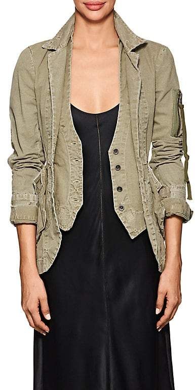 Greg Lauren Women's E-1 Distressed Cotton Jacket