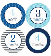 Sweet Seraphina Blue Anchor Stickers