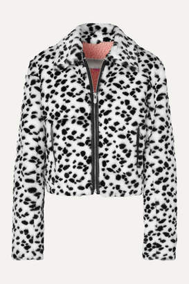 The Mighty Company - The Hamilton Leather-trimmed Animal-print Faux Fur Jacket - White