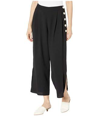 Vince Camuto Side Button Summer Crepe Culottes