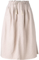 Forte Forte pleated skirt - women - Cotton/Linen/Flax - 0