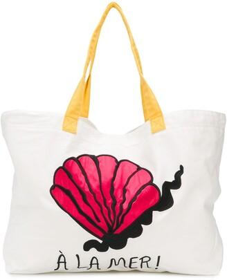 Mini Rodini A La Mer beach tote bag