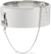 Eddie Borgo Safety Chain Silver-plated Bracelet - one size