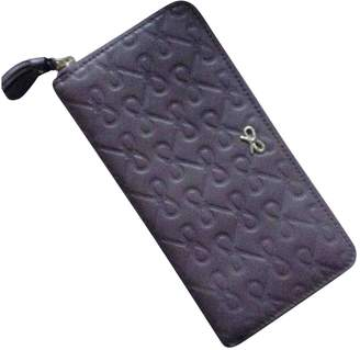 Anya Hindmarch Purple Leather Wallets
