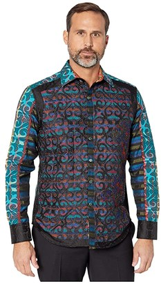 Robert Graham Limited Edition Cocktail Embroidered Sport Shirt (Multi) Men's Clothing