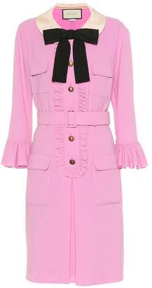 Gucci Belted wool crepe dress