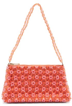 Shrimps Dawson Floral-beaded Bag - Orange