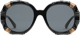 Gucci Bamboo effect round sunglasses