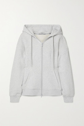 Alexander Wang French Cotton-terry Hoodie - Light gray