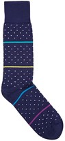 Paul Smith Navy Cotton Blend Socks