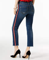 INC International Concepts I.n.c. Curvy-Fit Striped Ripped Straight-Leg Jeans, Created for Macy's