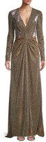 Thumbnail for your product : Mac Duggal Metallic Long Sleeve Gown