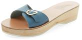 Ancient Greek Sandals Filia Sabot Leather Mid-Heel Wedge Sandal