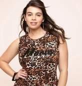 Loralette Leopard Meow Flounce Tank