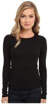 Splendid 1x1 Rib L/S Crew Neck Tee Women's Long Sleeve Pullover