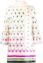 Valentino tie-neck floral print dress