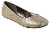 Mossimo Womens Odell Glitter Ballet Flats - Gold