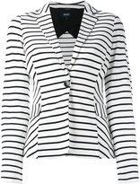 Armani Jeans striped blazer - women - Viscose/Polyamide/Spandex/Elastane/Polyester - 44