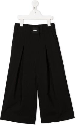 DKNY Pleated Wide-Leg Trousers