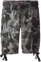 Southpole Big Boys Ripstop Belted Camo Cargo Shorts
