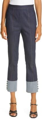 Cinq à Sept Bicolor Denim Trousers