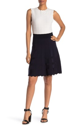 Ted Baker Contrast Skirt Knitted Dress