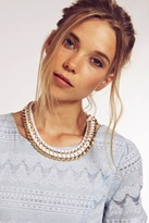 Dahlia Cream Metal Necklace