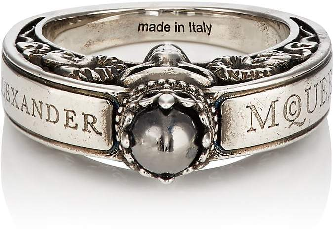 Alexander McQueen Men's Engraved Skull Ring