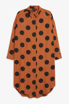 Monki Long hidden button dress
