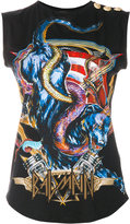 Balmain heavy metal print tank top - women - Cotton - 34