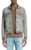 The Kooples Men's Destroyed Denim Jacket