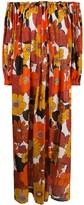 Dodo Bar Or flared off-the-shoulder maxi dress