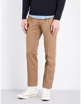 Sebiro By United Arrows Regular-fit Tapered Cotton-twill Trousers