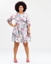 Evans Floral Mesh Dress