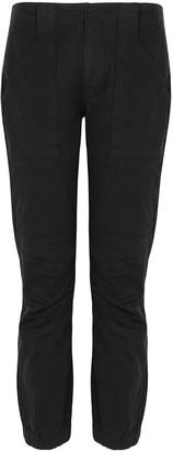 Frame Black cotton-blend cargo trousers