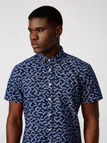 Frank + Oak Maze Print Chambray Shirt