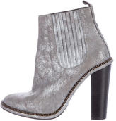 Opening Ceremony Metallic Suede Ankle Boots