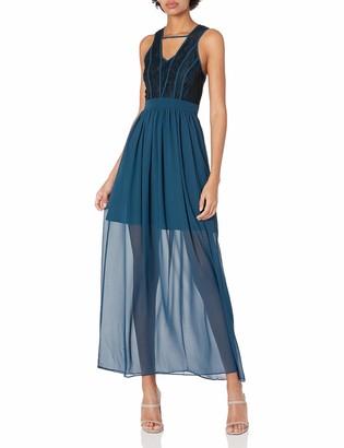 BCBGeneration Women's Binded Contrast Maxi Dress