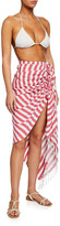 Just Bee Queen Tulum Striped Knotted Coverup