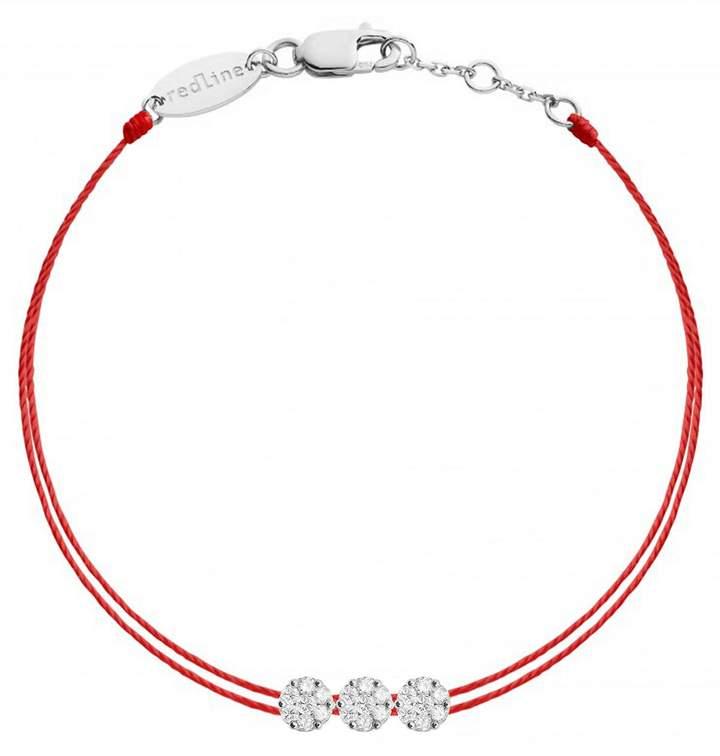 Redline Trillusion Diamond Red Bracelet - White Gold
