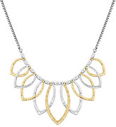 Lucky Brand Two Tone Hammered Petal Collar Necklace