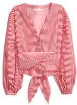 H&M Tie Cotton Blouse