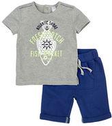 Petit Lem Baby Boys Fishy Fishy Two-Piece Printed T-Shirt and Shorts Set