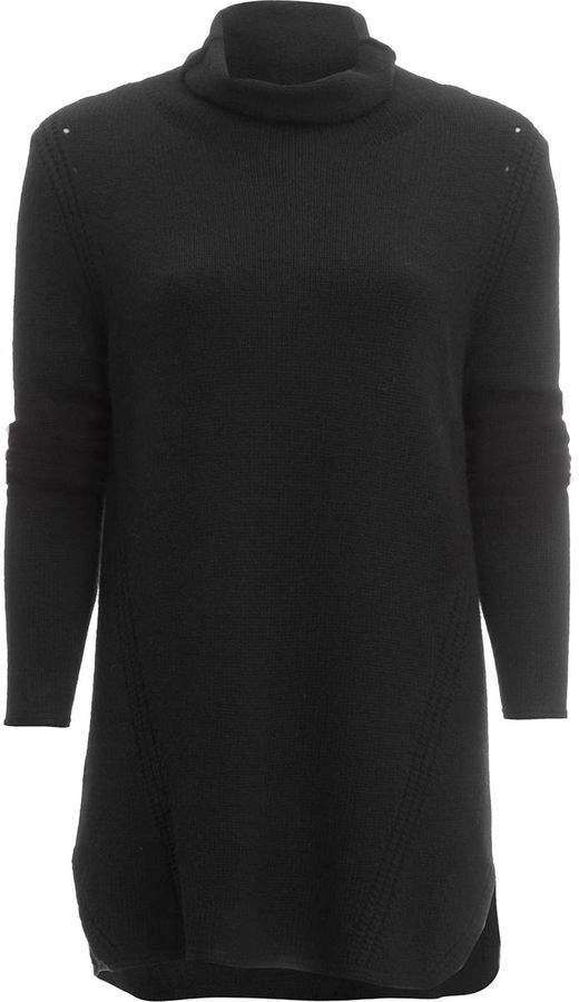 White + Warren Luxe Melange Cozy Knit Funnelneck Sweater - Women's