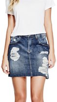 GUESS Giselle Denim Miniskirt