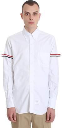 Thom Browne Long Sleeve Armband White Cotton Shirt