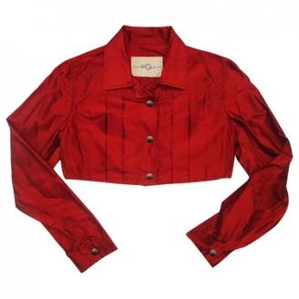 Romeo Gigli Burgundy Silk Jacket for Women Vintage