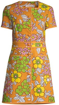 Tory Burch Wallpaper Floral Nadia Dress