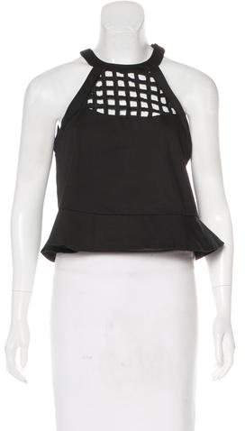 Alexis Sleeveless Peplum Top