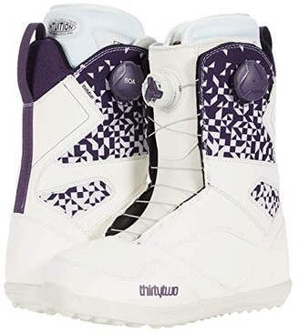 thirtytwo STW Double BOA Snowboard Boot (White/Purple) Women's Hiking Boots